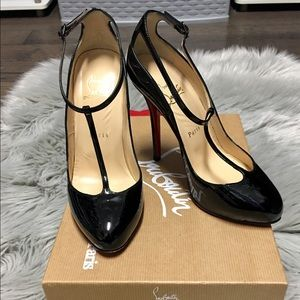 Christian Louboutin Ditassima Black Patent Heels